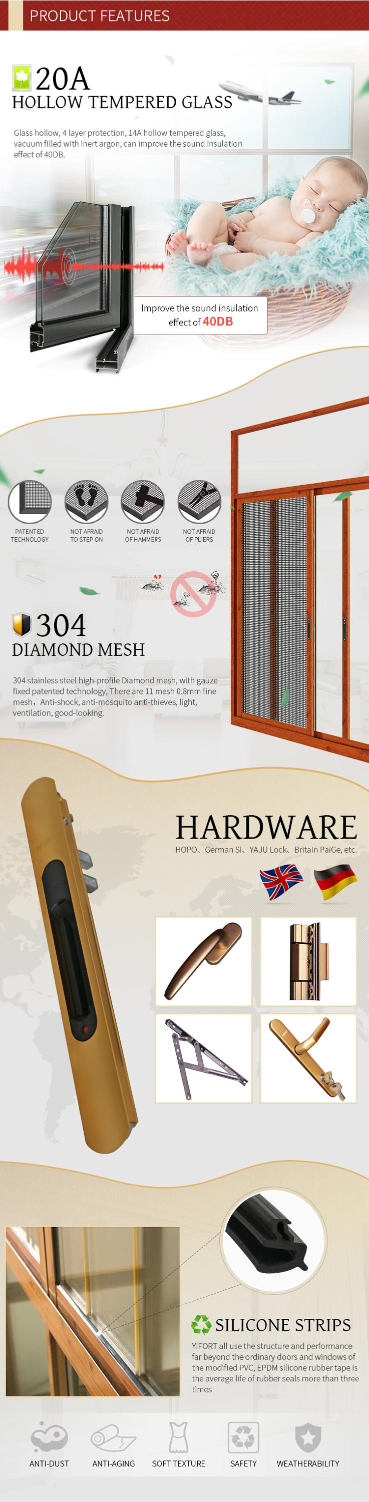 3 track alumiium frame glass sliding window price philippines with mosquito net