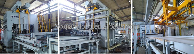 Short cycle lamination production line/mdf laminating machine /Hot press MDF press Flooring press