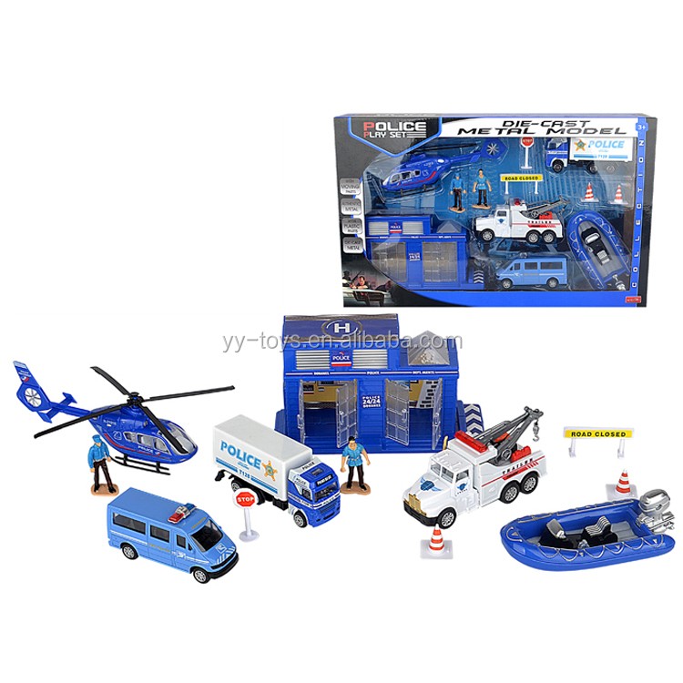 Middle box safe equipment police toy play set