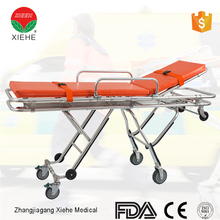 Professional Hospital equipment wheeled stretcher with wheels