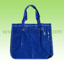 Blue PE/PVC Tote Handle Shopping Bag