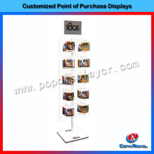 Modern counter top metal accessory display stand/accessory rack