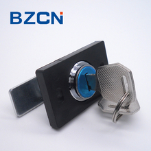 DTS 301 square black panel lock for elevator door stainless steel mechanism latch