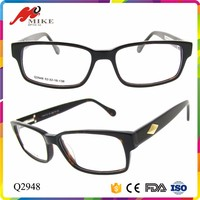 High end unique eyeglass frame acetate optical