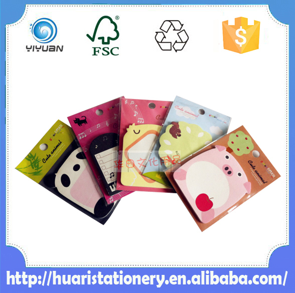 Custom die cut sticky notes/decorative sticky notes/cute sticky notes