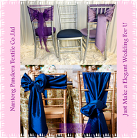 Cheap satin chair sashes for weddings and banquet