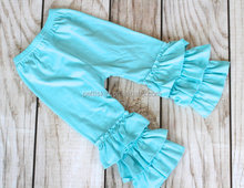 2014 children clothing USA wholesale knit ruffle pants