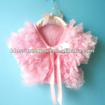 Lace baby jacket wholesale for baby girls