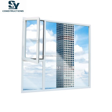 AS2047 popular window doors design double glass excellt view aluminum double glass casement window with fixed window