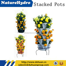 Stackable/ Hanging Plastic Small Vegetables/ Flower Planter/Pot for Greenhouse