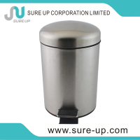 Unbreakable stainless steel hotel room waste bin new outdoor design garbage can custom made trash cans(DSUB)