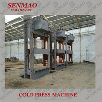 Hydraulic Cold Pressing Machine For Wooden Door/auto feeding cold press
