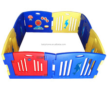 fashion color stylish outdoor plastic baby playpen,baby play yard