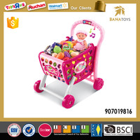 Funny Shopping Cart Toy with Plastic Mini Food