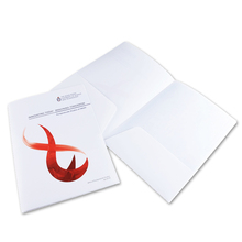 Customized L Shape file folder with full color UV printing / hot selling pp plastic file folder