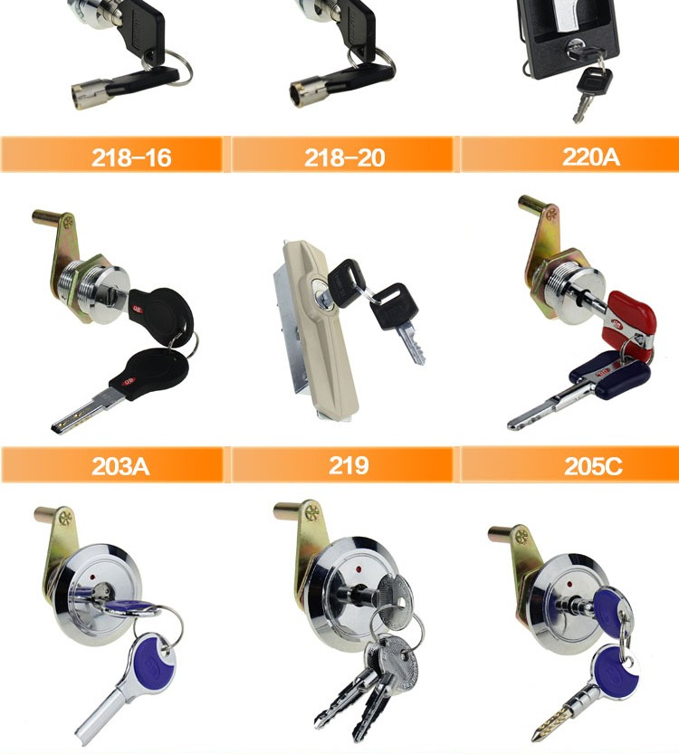 320-25 High quality cam lock with master key & core removable key function (M19*L25mm)