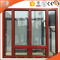 Villa wooden composite aluminum window and solid red oak window frames designs