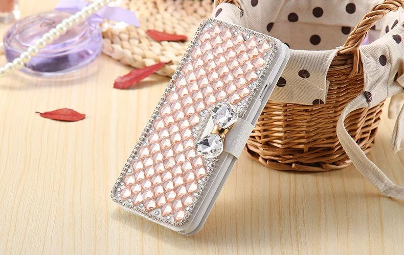 Mobile Phone Case For iphone 6 Wallet Holster Diamond Leather Cover With Card Holder