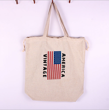 zakka the cotton and linen made flag and drawstring and backpack bag