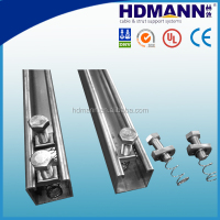 solar perforated aluminum strut channel