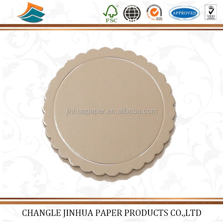 Customized shape disposable aluminum foil paper board for food grade