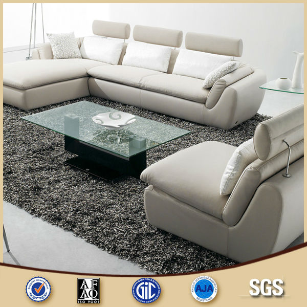 Malaysia Latest Sofa Design White Leather L Shape