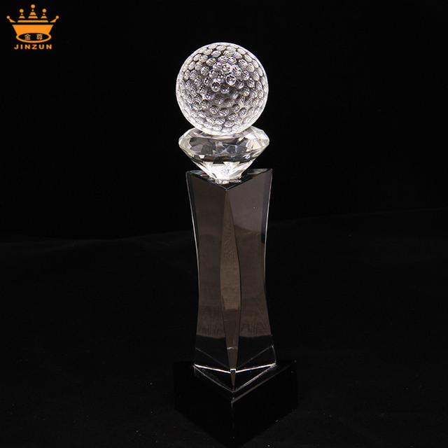 Wholesale souvenir craft crystal award trophy plaque with base