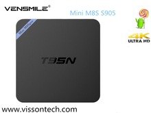 Wholesales Mini M8S T95 T95N Quad Core Amlogic S905 Android5.1 2G/8G S905 tv box S905 mini M8S T95N