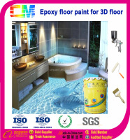 Epoxy 3D floor coating
