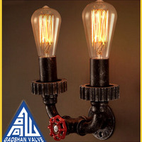 Antique Water Pipe Lamps Indoor Wall