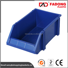 Stackable plastic warehouse storage bins