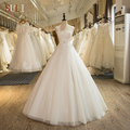 SL-2 Custom Made Tulle Lace Appliques A-Line Luxury Beaded 2016 Wedding Dress