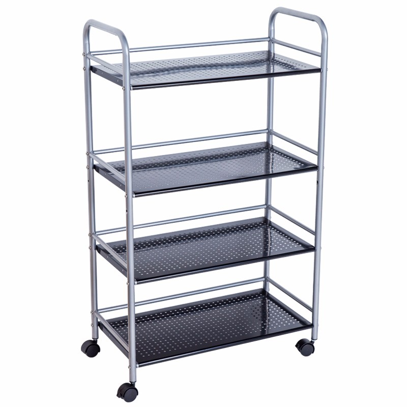 413I 4 Tier DIY kitchen metal storage drink trolley