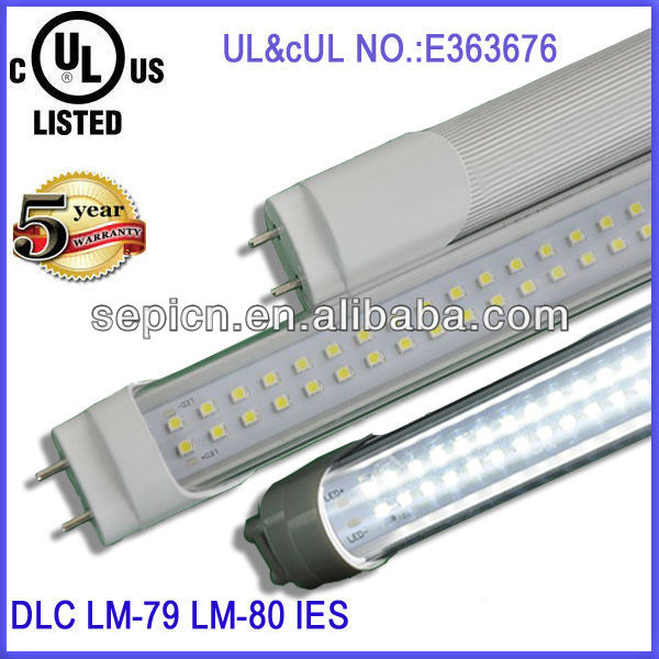 18 Watt LED T8 Tube ul - DLC Approved - Ultra Brite - Frosted Cover