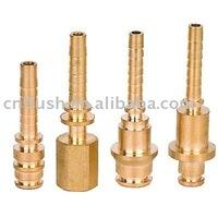 brass crimp fitting hose barb hose end