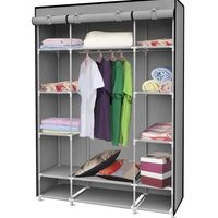 Storage Closet Organizer Portable Garment Rack