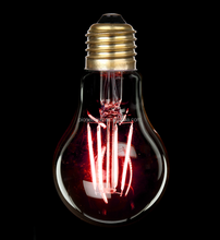 Colorful E27 A60/A19 Sapphire LED Filament bulb RED lights with CE