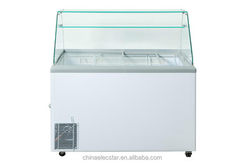 Gelato Scooping With Sneeze Guard, Ice Cream Scooping Freezer,dipping  Cabinet