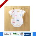 fancy design newborn baby clothes cheap china factory plain white color with printing romper