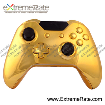 chrome shell replacement parts for Xbox one wireless controller housing with full set buttons