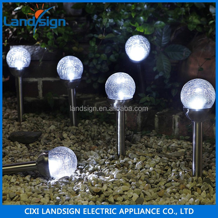 best selling hot chinese products XLTD-721A solar power equipment crackle glass ball standing lamp outdoor led flood lighting