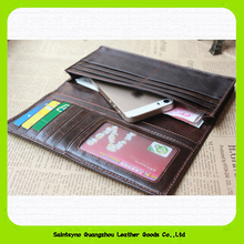 Hot selling mens leather wallets 2015 mens wallets with coin pocket fashion travel phone handbags 15520