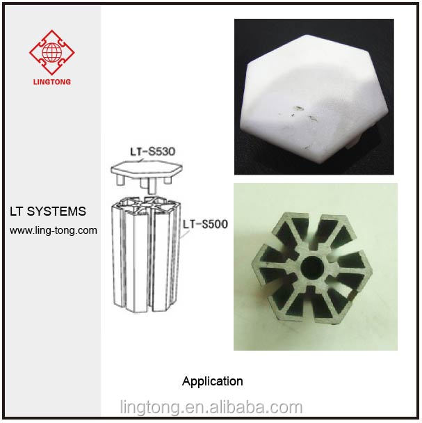 Plastic Aluminium Extrusion End Cap for Exhibition Booth/ Booth Accessory