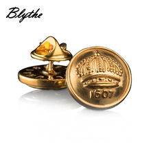 Wholesale promotional design make custom enamel replica cufflinks