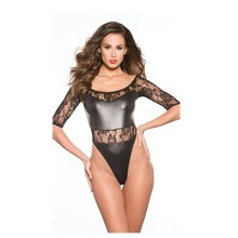 Adult Women Leather Wet Look Sexy Costumes Underwear Fancy Night Clubwear latex lingerie