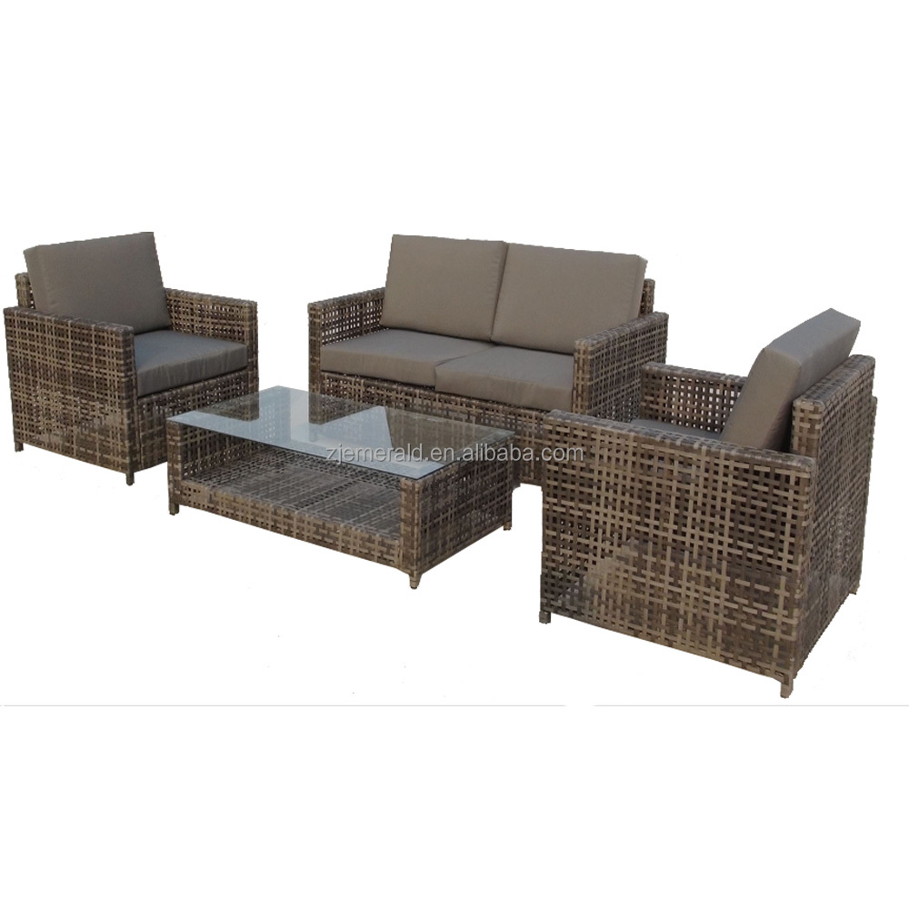 lows resin wicker patio outdoor furniture with gray cushion