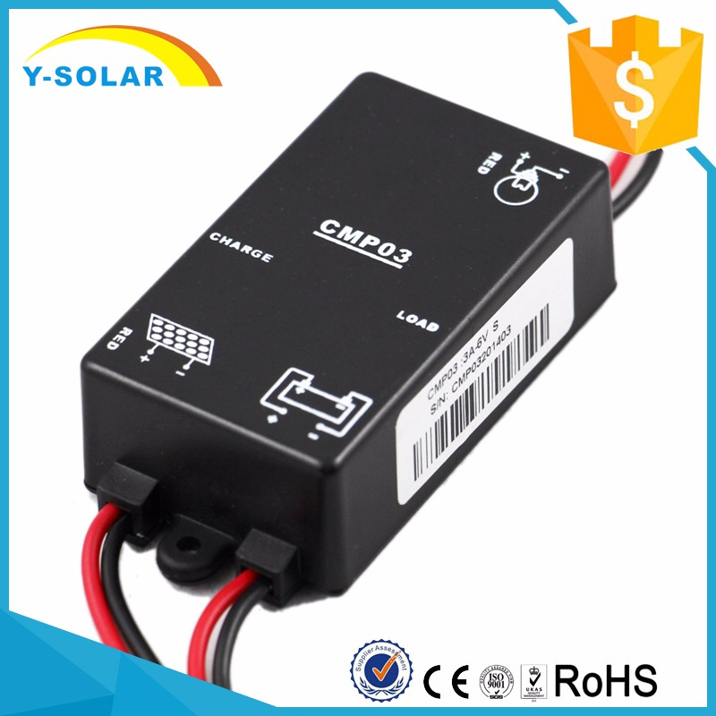 Y-SOLAR 3A-6V-S Solar Charge Controller Circuit Diagram PWM Solar Charger Controller with Light Control Function