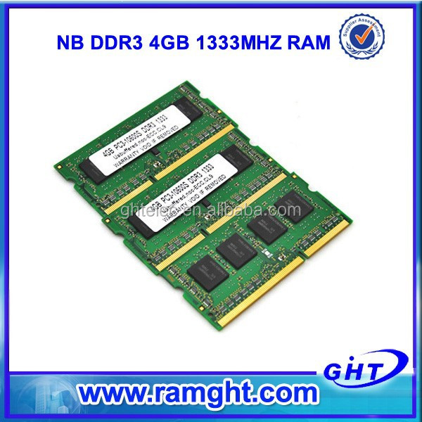Pakistan full compatible 4gb laptop ddr3 sdram 1333mhz memory