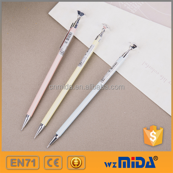 sample free retractable metal automatic pencil with diamond cap MD-H1050