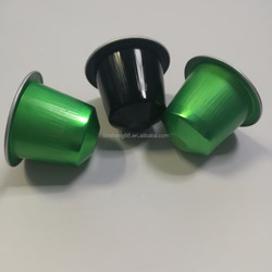 customable small nespresso shape empty aluminum foil coffee capsule